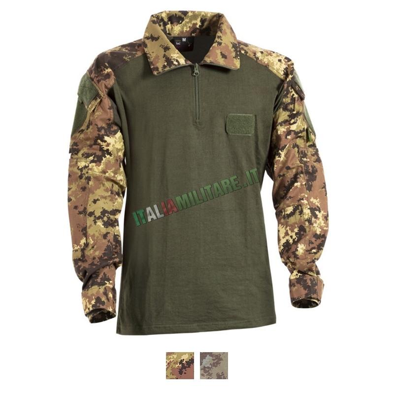 Combat Shirt in Cotone Openland Vegetata