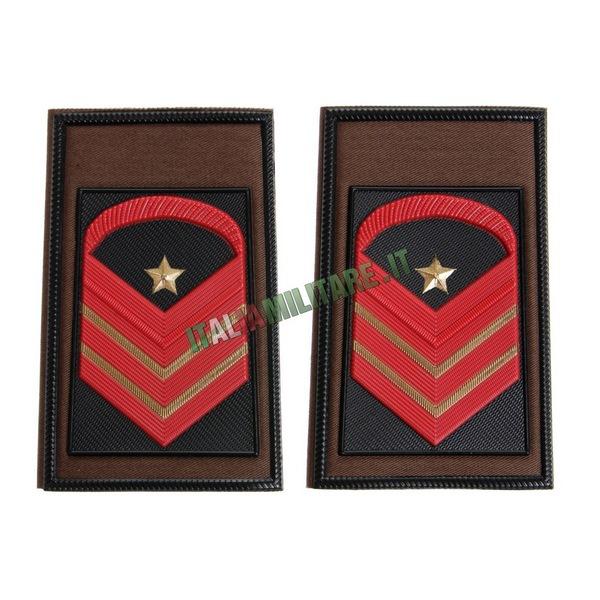 Coppia di Gradi Esercito Italiano Caporal Maggiore Capo Scelto Qualifica Speciale