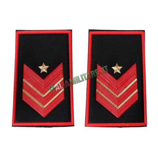 Coppia Gradi Tubolari Carabinieri Appuntato Scelto Qualifica Speciale