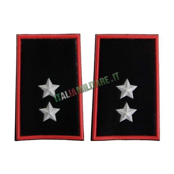 Coppia Gradi Tubolari Carabinieri Tenente
