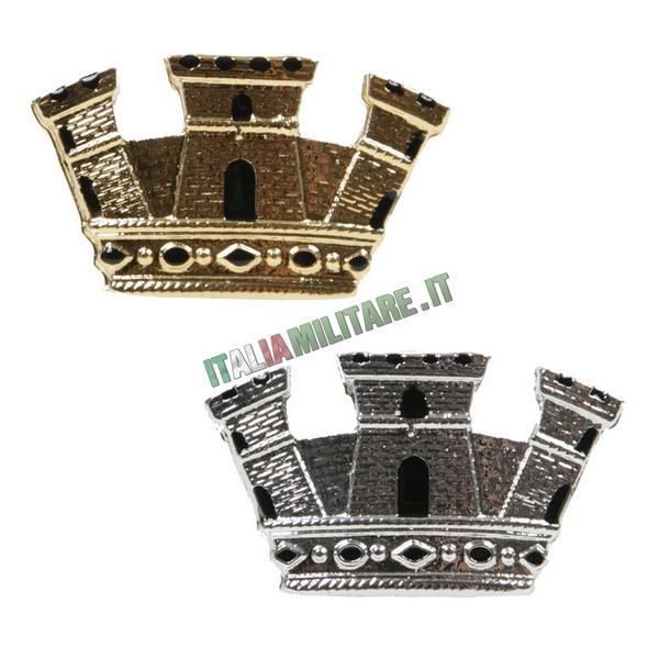 Grado Corona Turrita da Ufficiale Oro o Argento