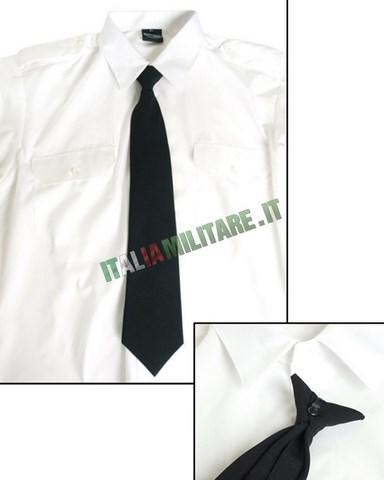 Cravatta Nera con Gancio per Impiego Sicurezza e Lavoro