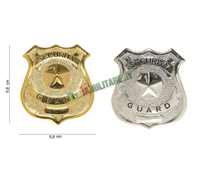 Distintivo in Metallo Security Guard
