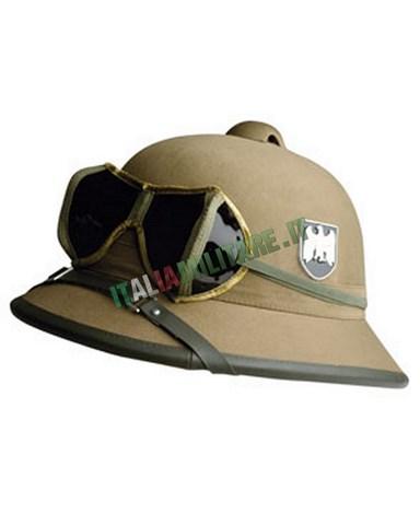 Elmetto Tedesco Militare WWII Tropicale con Occhiali