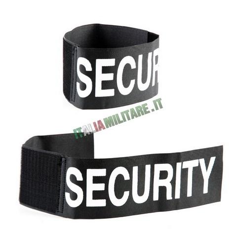 Fascia da Braccio Security Nera con Velcro per Impiego Sicurezza