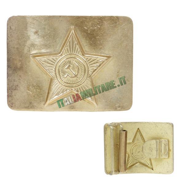 Fibbia per Cinturone Militare Russo Originale Oro