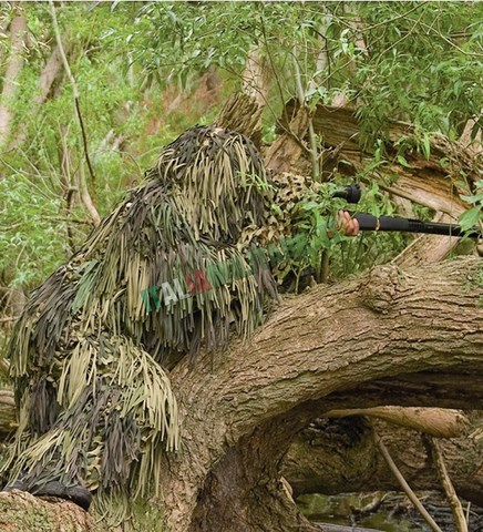 Ghillie Jackal 3D Jungle Mimetismo Totale