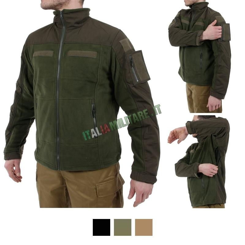 Giacca Militare Termica in Pile con Velcri 101 Inc