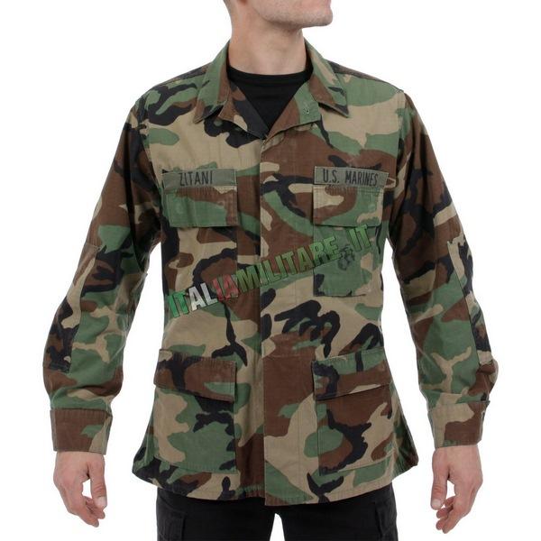 Camicia Giacca Militare Americana Originale Woodland