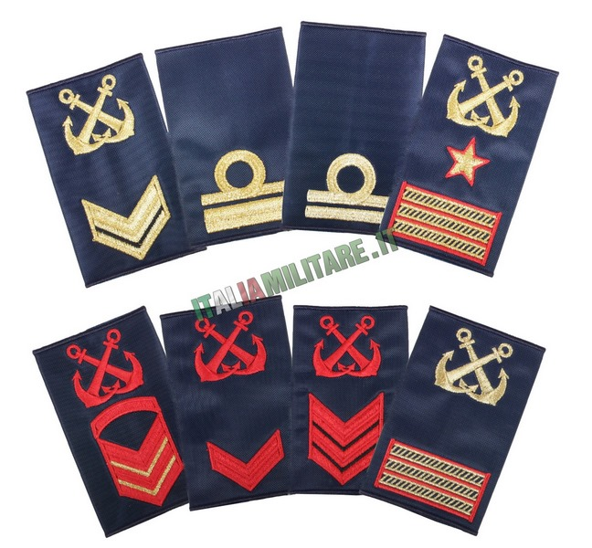 Gradi Marina Militare Nocchiere di Porto Tubolari Blu - Capitaneria di Porto
