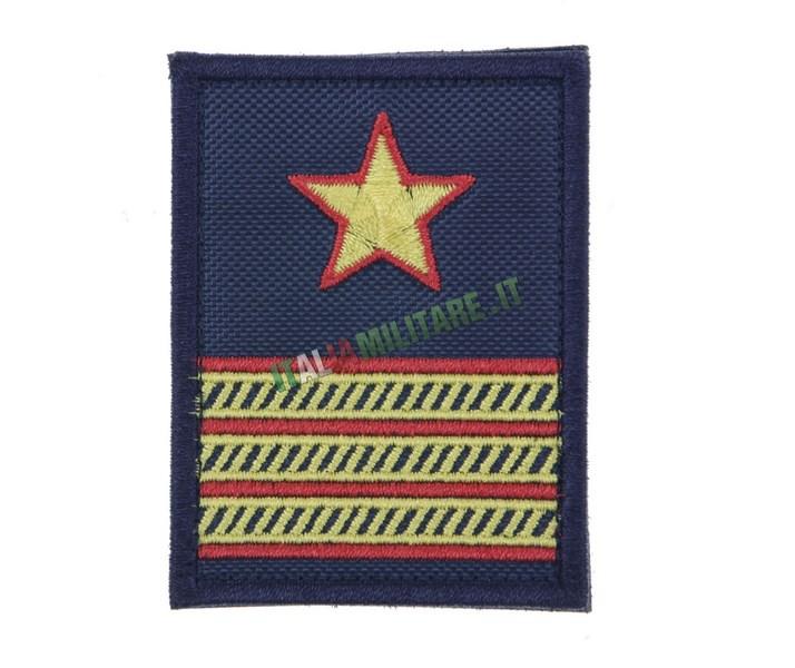 Grado Velcro Marina Militare Blu Primo Maresciallo Luogotenente