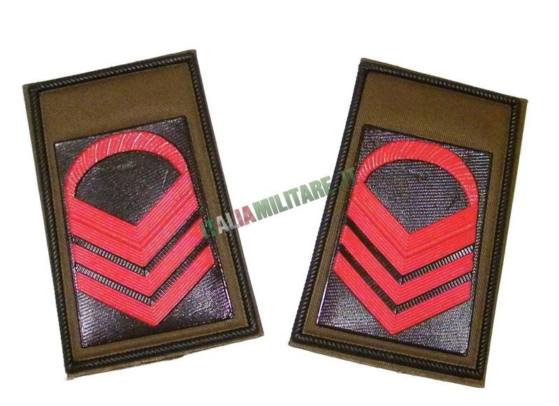 Coppia di Gradi Esercito Italiano Caporale Maggiore Capo