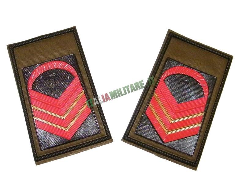 Coppia di Gradi Esercito Italiano Caporale Maggiore Capo Scelto