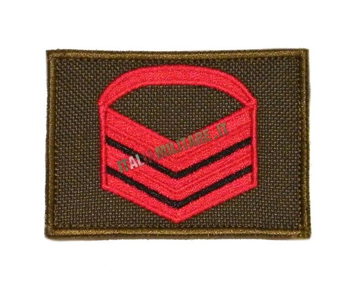 Gradi a Velcro Caporal Maggiore Capo Rosso Esercito