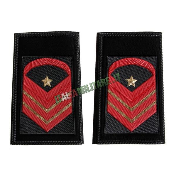 Coppia Gradi Tubolari Neri Esercito Caporal Maggiore Capo Scelto Qualifica Speciale