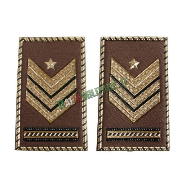 Coppia di Gradi Esercito Italiano Sergente Maggiore Capo Qualifica Speciale