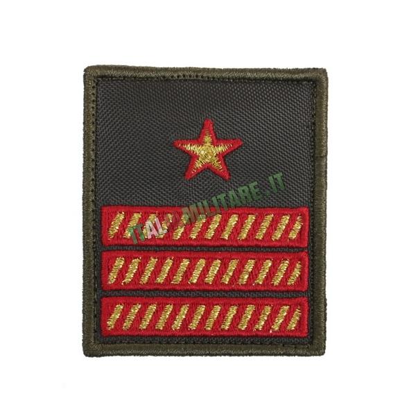 Gradi a Velcro 1° Maresciallo Luogotenente Aeronautica Verde