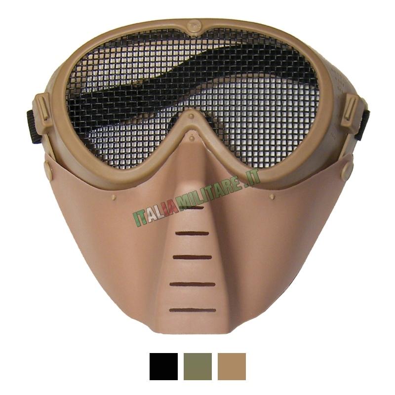 Maschera con Occhiali a Rete