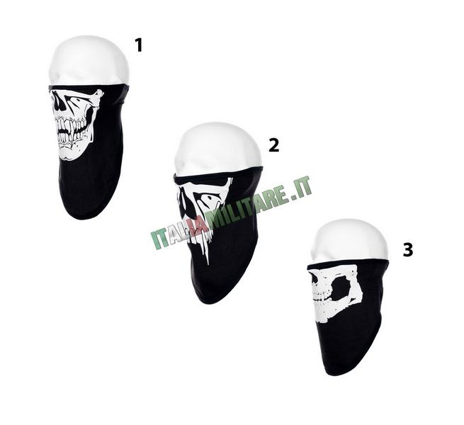 Maschera Facciale Teschio in Cotone