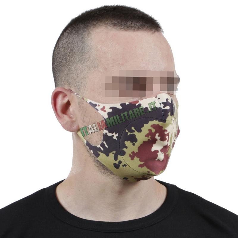 Mascherina Filtrante Militare Vegetata Lavabile