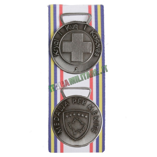 Medaglia Carabinieri per Croce Rossa in Kosovo - Argento
