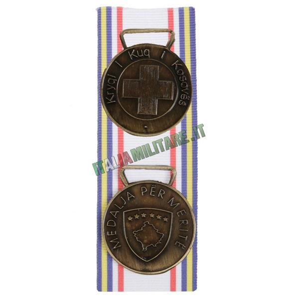 Medaglia Carabinieri per Croce Rossa in Kosovo - Bronzo