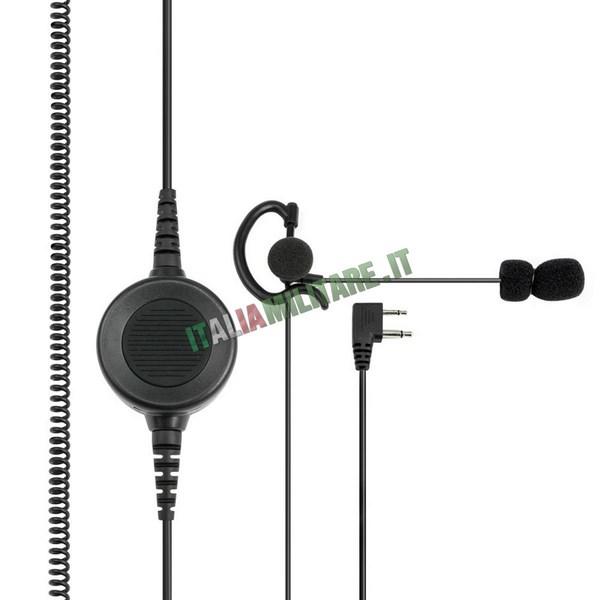 Microfono Auricolare 2 pin Midland ABM TACTICAL