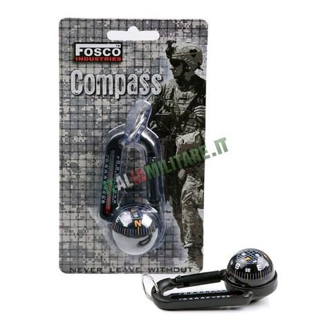 Moschettone Militare con Bussola e Termometro