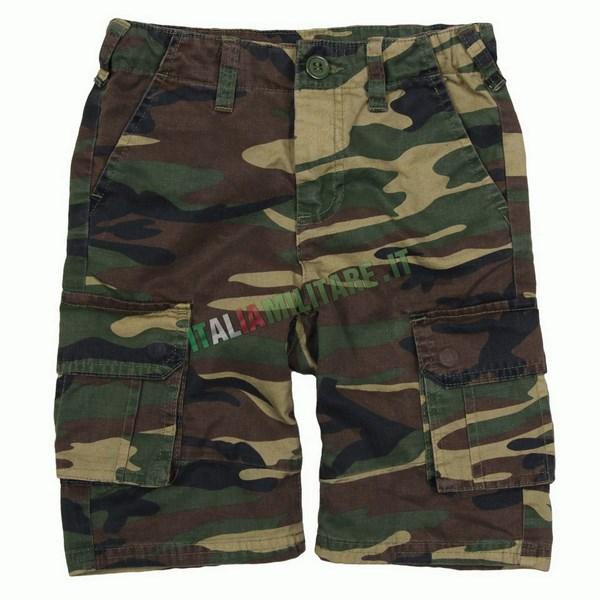 Bermuda Militari da Bambino Mimetici Woodland