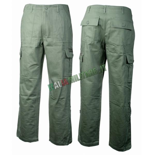 Pantaloni 6 Tasche gen. II Cotone Felpato SBB Verdi