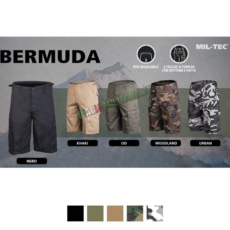 Pantaloni Bermuda Militari Corti MilTec