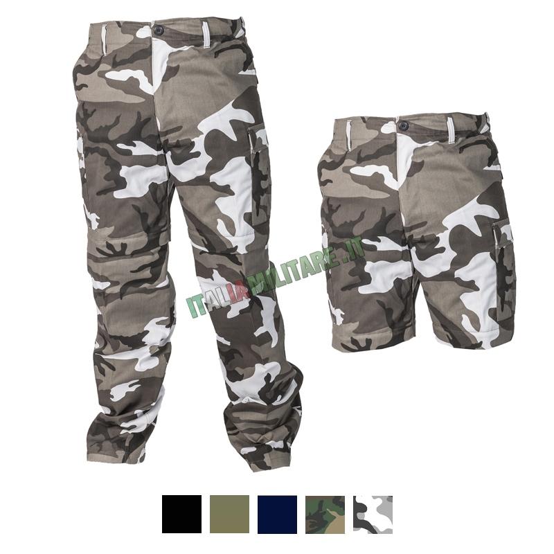 Pantaloni Lunghi e Corti 2 in 1 Militari