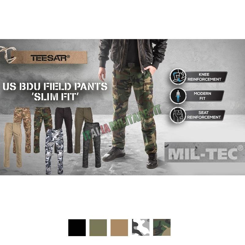 Pantaloni BDU Slim Fit Militari