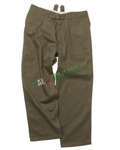 Pantalone Militare Tedesco WWII Wehrmacht M40 Tropical