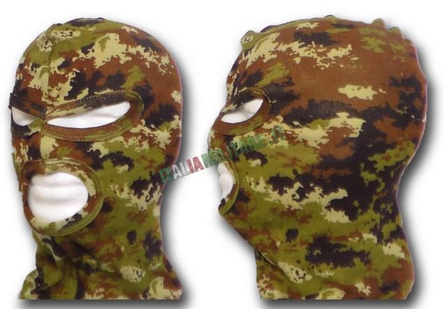 Passamontagna Militare in Cotone a 3 Buchi Vegetato