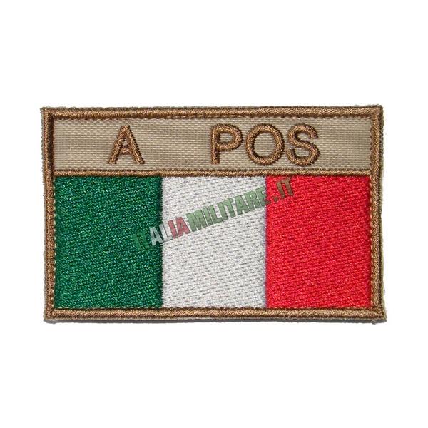 Patch Personalizzata Bandiera + Gruppo Sanguigno Tan