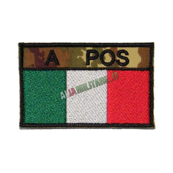 Patch Personalizzata Bandiera + Gruppo Sanguigno Vegetata