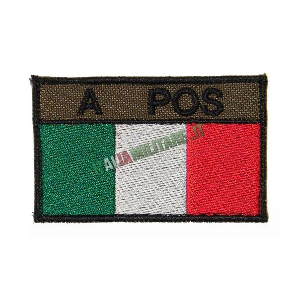 Patch Personalizzata Bandiera + Gruppo Sanguigno Verde