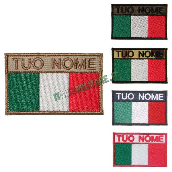 Patch Personalizzata Bandiera + Nome
