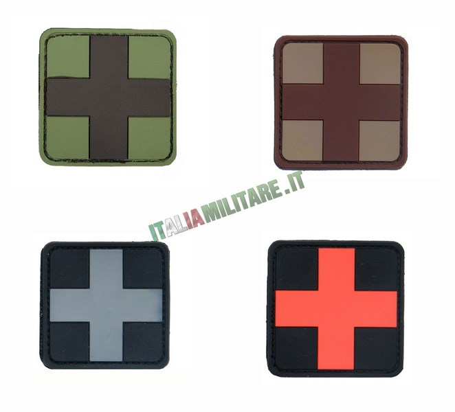 Patch Croce Sanitaria Militare in Pvc