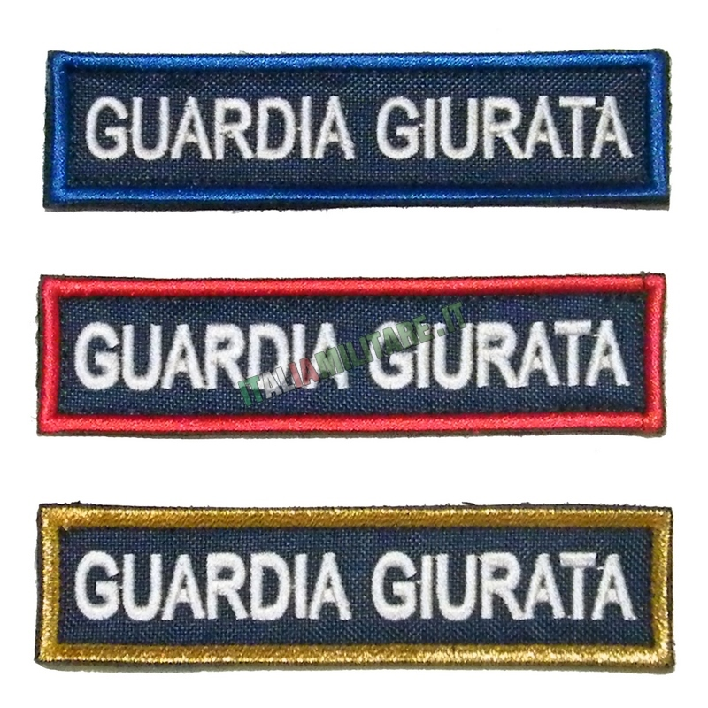 Patch Guardia Giurata