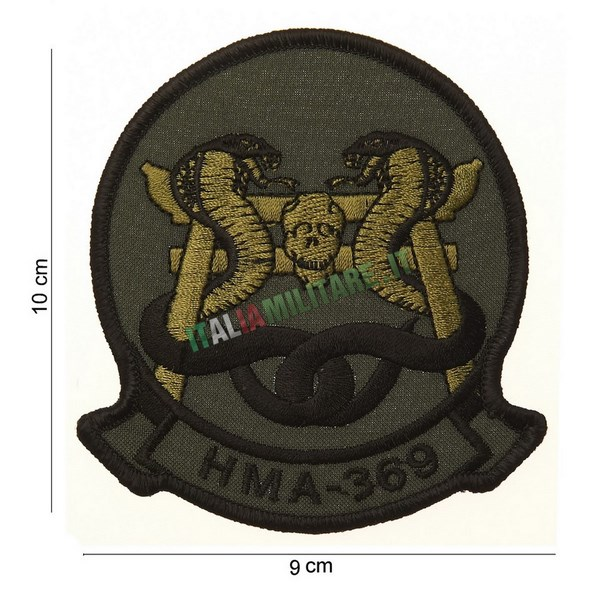 Patch USMC Marine Attack Helicopter Squadron HMA-369 Vietnam War
