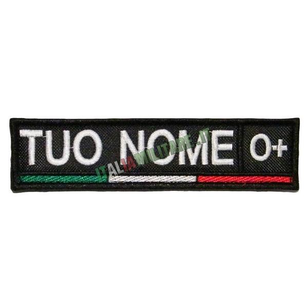Patch Personalizzata Nome Gruppo Bandiera Sotto - Nera