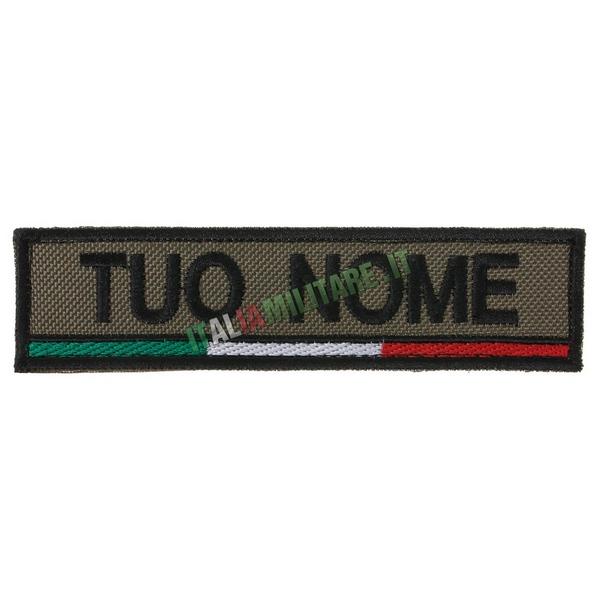Patch Personalizzata Nome Gruppo Bandiera Sotto - Verde