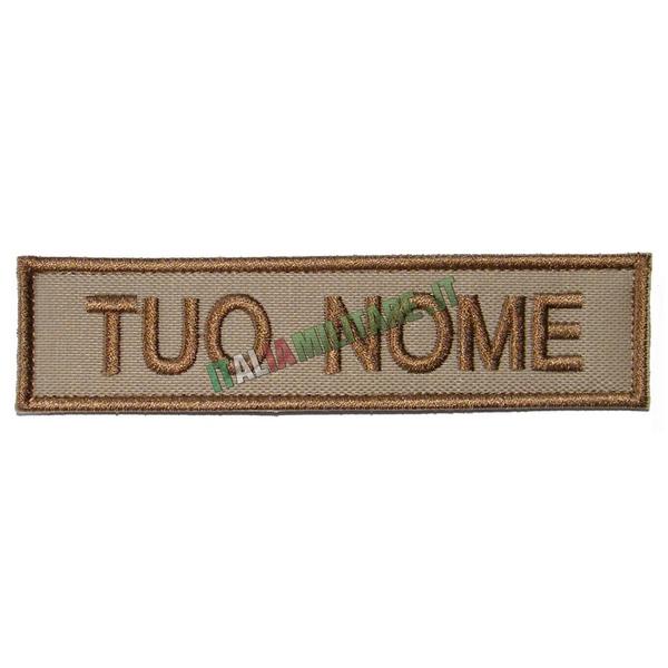 Patch Personalizzata Nome - Tan Desert