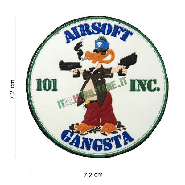 Patch Airsoft Gangsta in Pvc