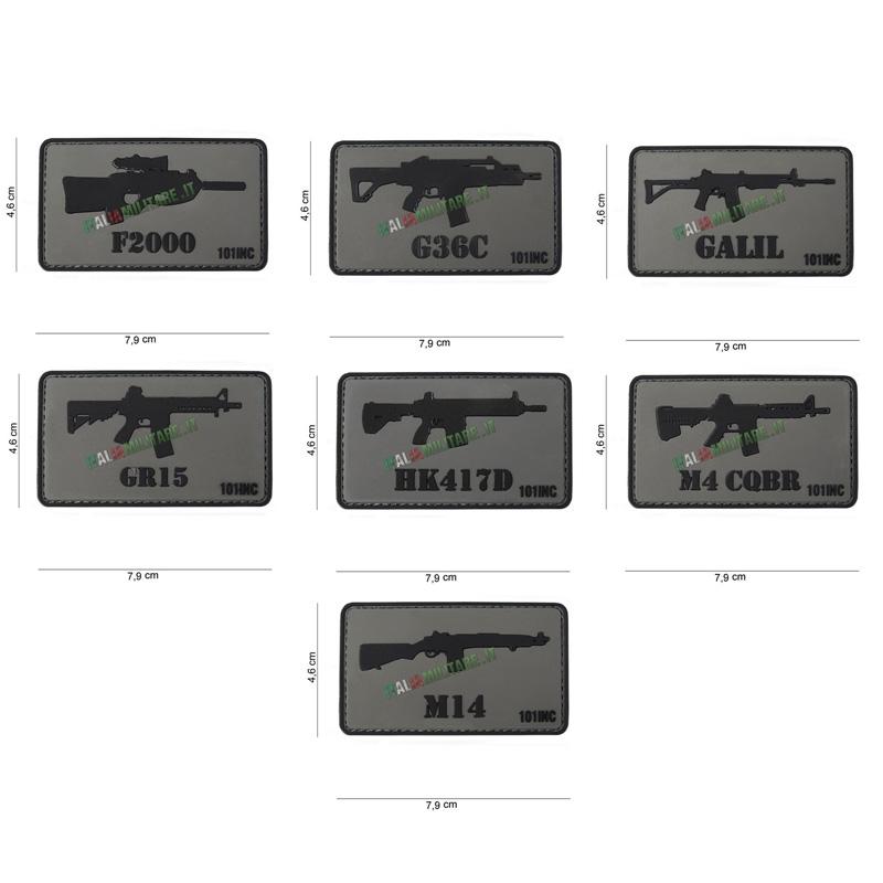 Patch Armi Vari Modelli in Pvc - 1