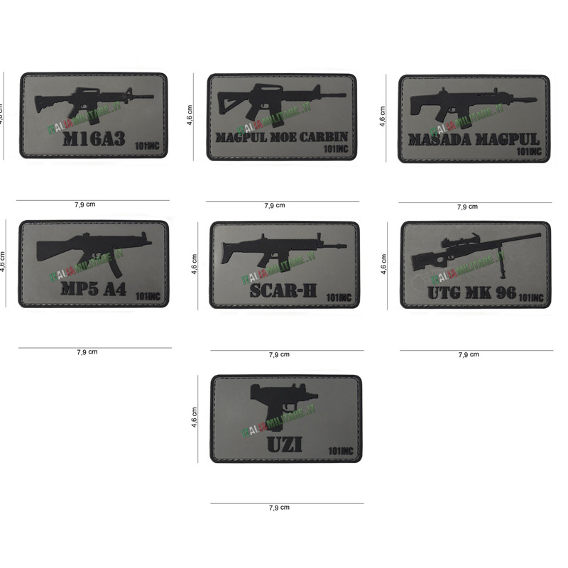 Patch Armi Vari Modelli in Pvc - 2