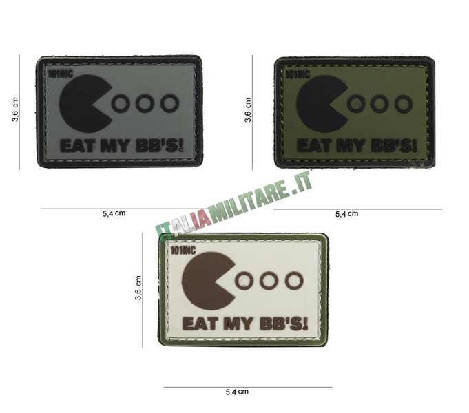 Patch Eat My BBs in Pvc