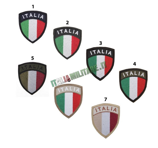Patch Scudetto ITALIA Bandiera Militare